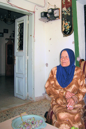 Her home was hit with cluster bombs.